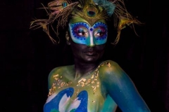 Body Paint Pavo Real